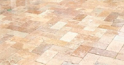Travertine and Brick Pavers